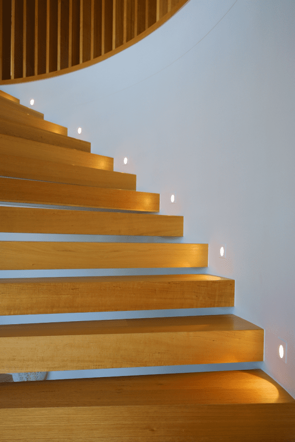 Feature Lighting on Curved Staircase